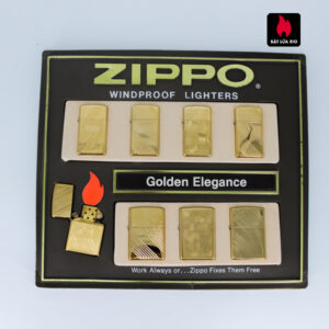Set Zippo - Zippo La Mã 1993-1994 - Gold Plate - Golden Elegance