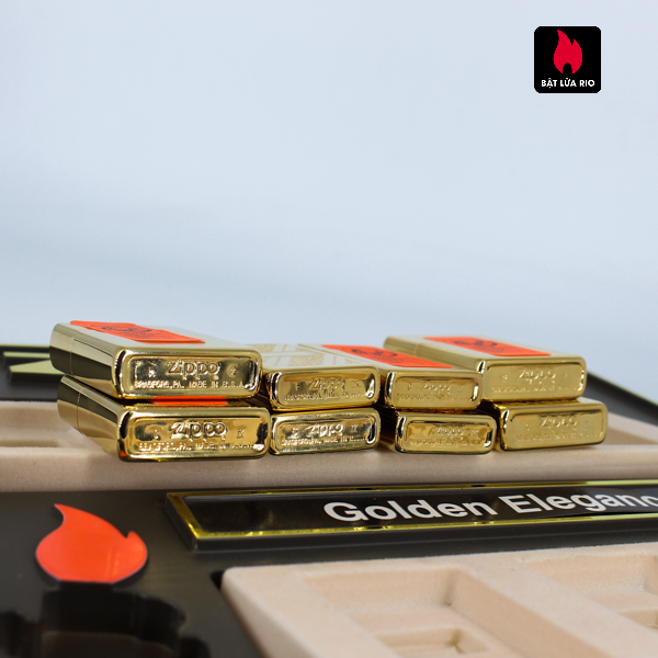 Set Zippo - Zippo La Mã 1993-1994 - Gold Plate - Golden Elegance 5
