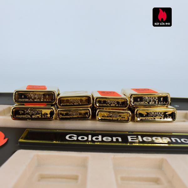 Set Zippo - Zippo La Mã 1993-1994 - Gold Plate - Golden Elegance 6