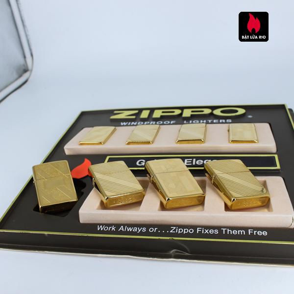 Set Zippo - Zippo La Mã 1993-1994 - Gold Plate - Golden Elegance 7