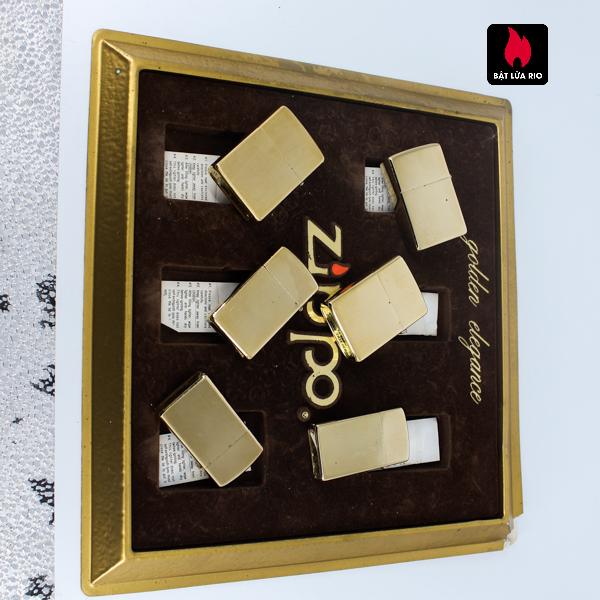 Set Zippo - Zippo Xưa 1970s - Gold Plate - Golden Elegance 10