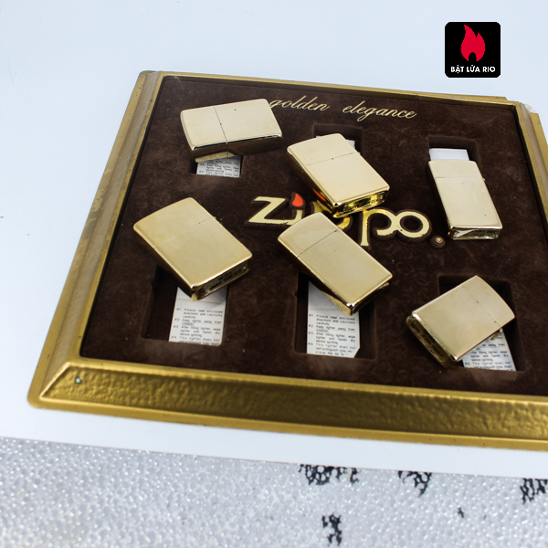 Set Zippo - Zippo Xưa 1970s - Gold Plate - Golden Elegance 11