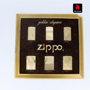 Set Zippo - Zippo Xưa 1970s - Gold Plate - Golden Elegance