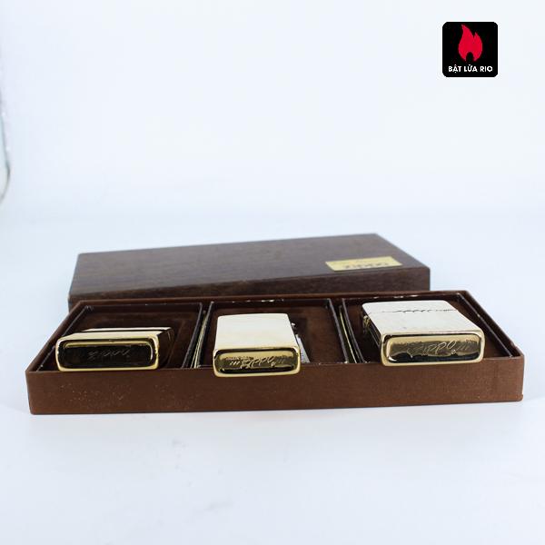Set Zippo – Zippo Xưa 1976 – Gold Plate – Golden Elegance 3