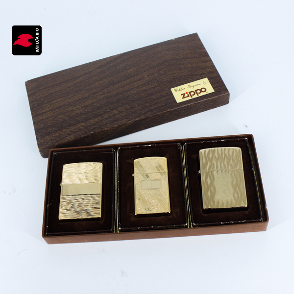 Set Zippo – Zippo Xưa 1976 – Gold Plate – Golden Elegance