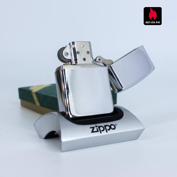 Zippo La Mã 1994 – Santa Claus High Polish Chrome – Merry Christmas 3