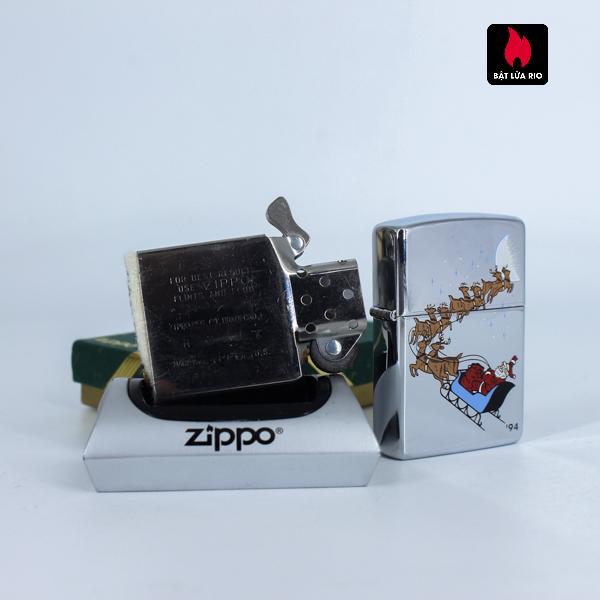 Zippo La Mã 1994 – Santa Claus High Polish Chrome – Merry Christmas 6