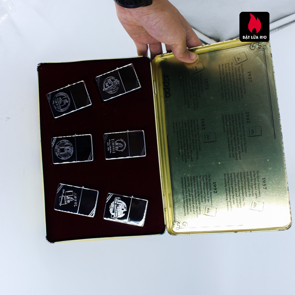 Zippo Set 1996 – 60th Anniversary Complete Set – 1992 Collectors Edition - Vintage Series 1