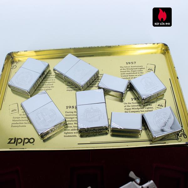 Zippo Set 1996 – 60th Anniversary Complete Set – 1992 Collectors Edition - Vintage Series 11