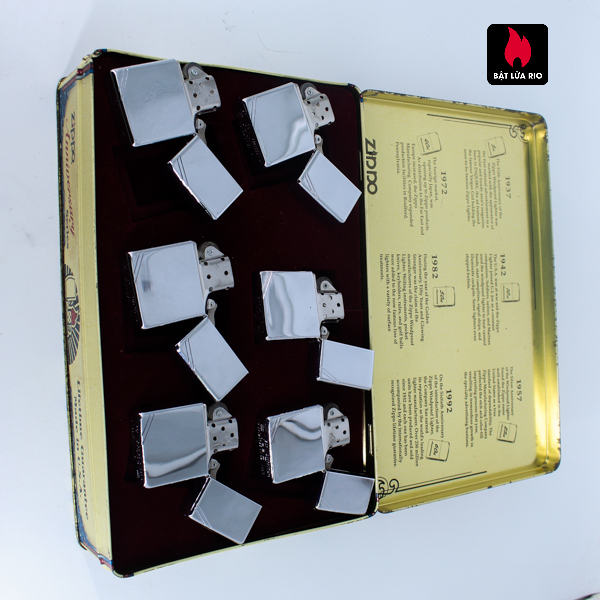 Zippo Set 1996 – 60th Anniversary Complete Set – 1992 Collectors Edition - Vintage Series 6