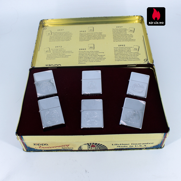 Zippo Set 1996 – 60th Anniversary Complete Set – 1992 Collectors Edition - Vintage Series