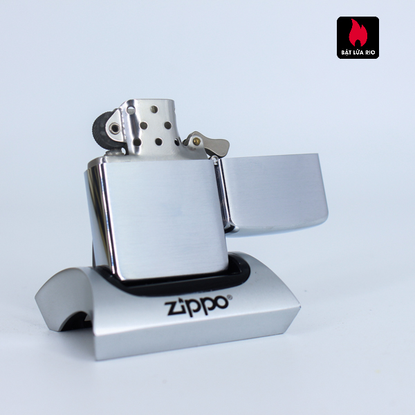 Zippo Xưa 1956 – Brushed Chrome – Plain – Trơn 2 Mặt 2