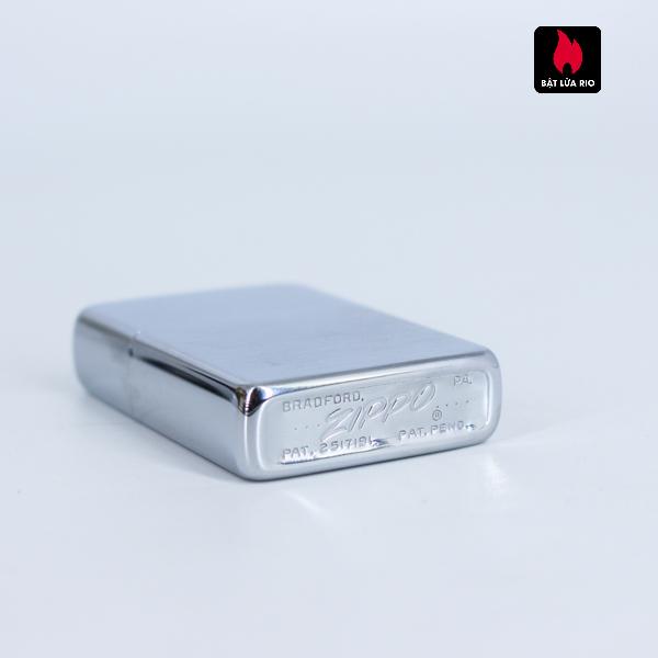 Zippo Xưa 1956 – Brushed Chrome – Plain – Trơn 2 Mặt 3