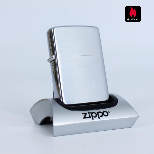Zippo Xưa 1956 – Brushed Chrome – Plain – Trơn 2 Mặt