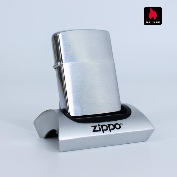 Zippo Xưa 1962 - Brushed Chrome - Trơn 2 Mặt - Plain 2