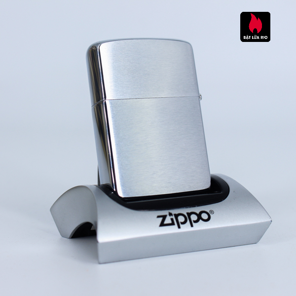 Zippo Xưa 1962 - Brushed Chrome - Trơn 2 Mặt - Plain 3