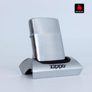 Zippo Xưa 1962 - Brushed Chrome - Trơn 2 Mặt - Plain