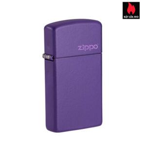 Zippo 1637ZL - Zippo Slim® Purple Matte with Zippo Logo