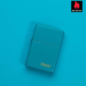 Zippo 49454ZL - Zippo Flat Turquoise Zippo Logo 1