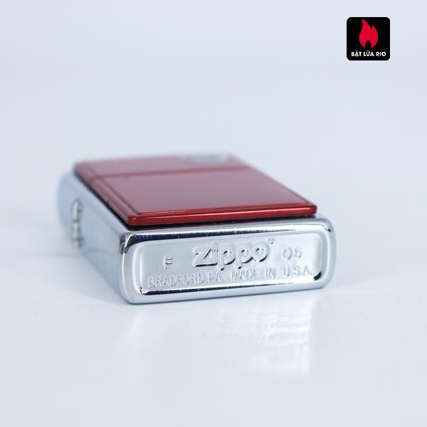 Zippo 2002 - Red Anodized Aluminum 3