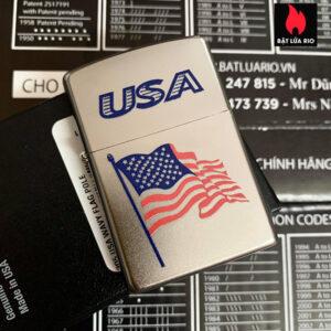 Zippo 205 USA Wavy Flag