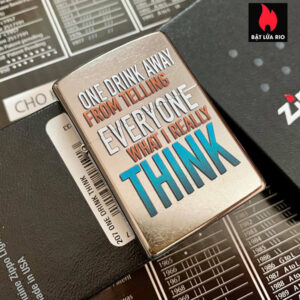 Zippo 207 One Drink Think