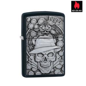 Zippo 49183 -Zippo Gambling Skull Black Matte