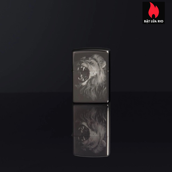Zippo 49433 - Zippo Lion Design Black Ice 1