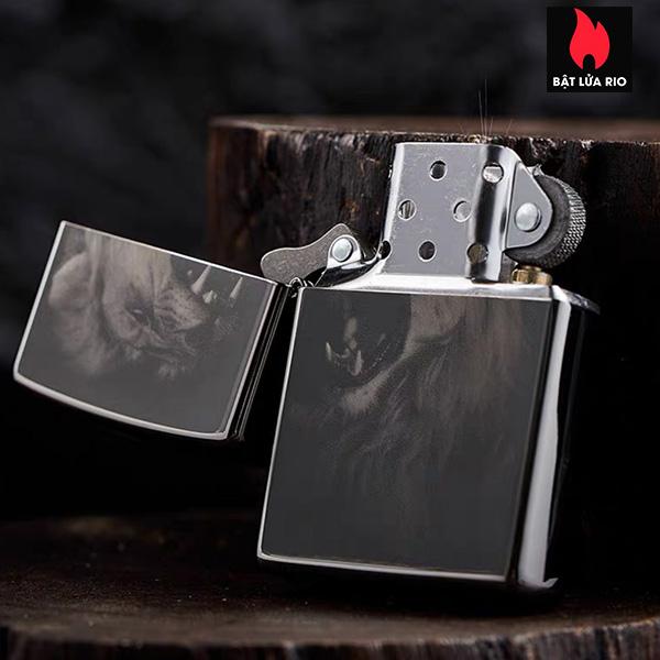 Zippo 49433 - Zippo Lion Design Black Ice 2