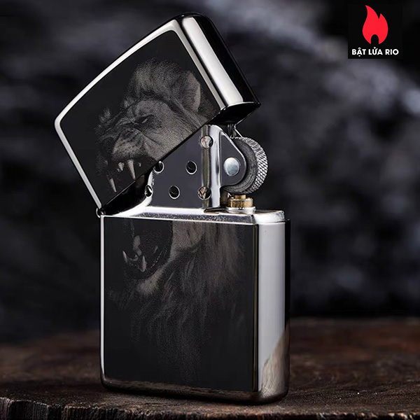 Zippo 49433 - Zippo Lion Design Black Ice 3