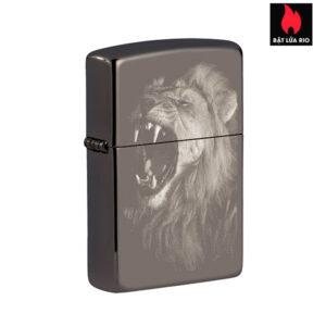 Zippo 49433 - Zippo Lion Design Black Ice