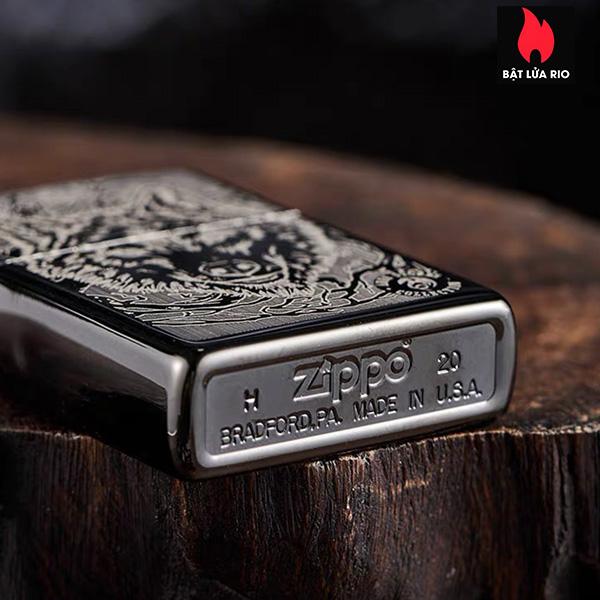 Zippo 49443 – Zippo Anne Stokes Wolf High Polish Black 7