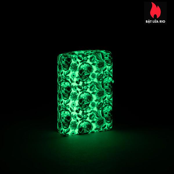 Zippo 49458 - Zippo Skeleton Design Glow-In-The-Dark 540 Color 6