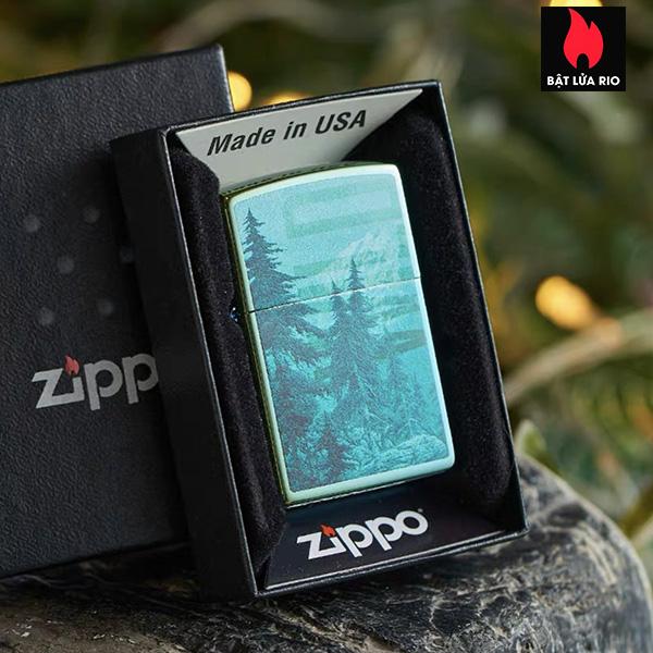 Zippo 49461 – Zippo Mountain Design High Polish Teal 6