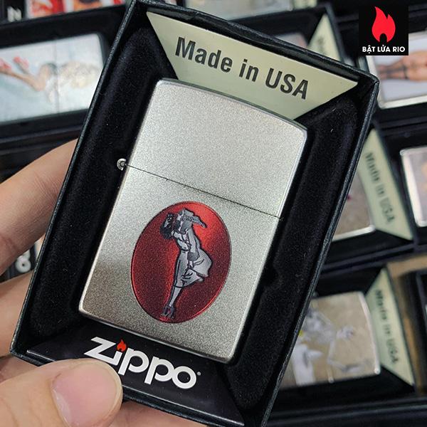 Zippo 205 Windy Girl Design