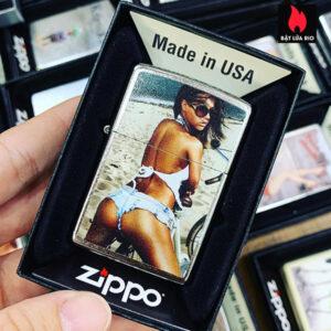 Zippo 207 Brunette Woman Long Hair