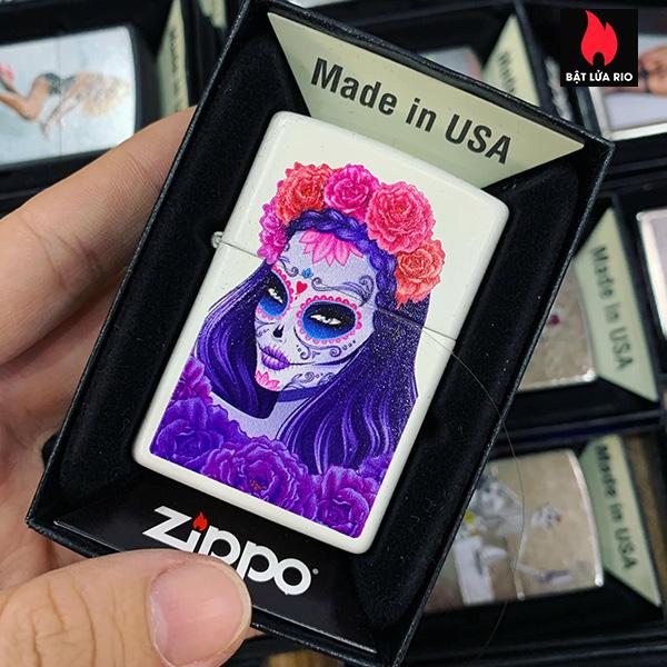 Zippo 214 Sugar Skull Woman