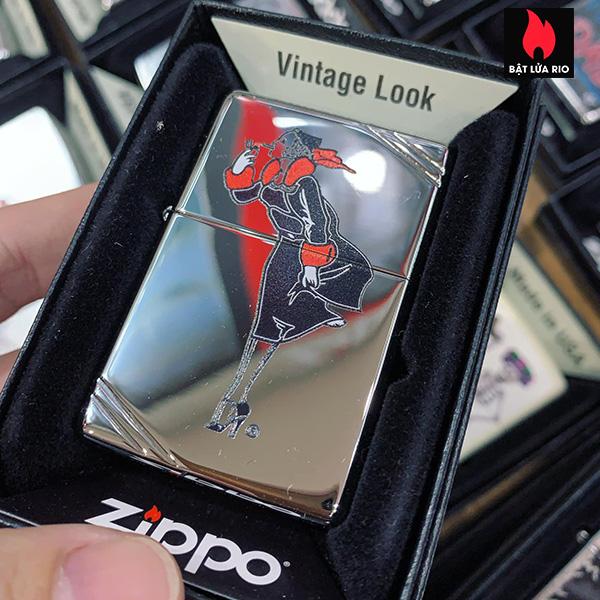 Zippo 260 Windy Girl Black