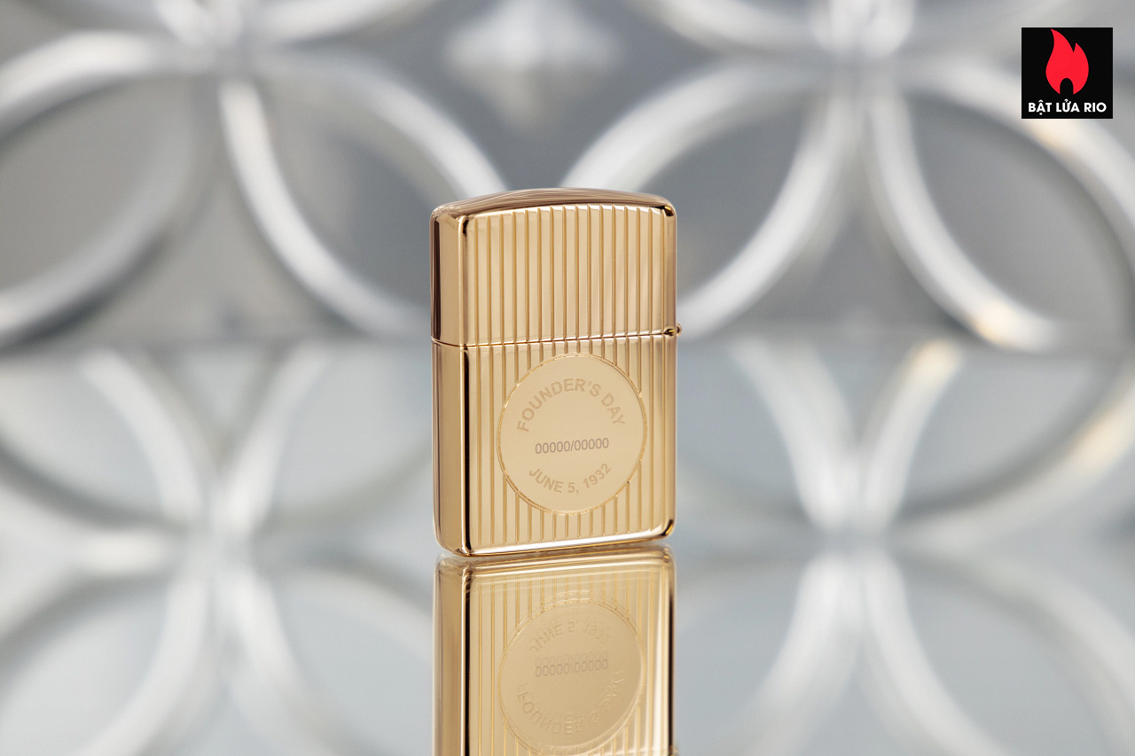 Zippo 49631 - Zippo Founder's Day 2021 Gold Plated Edition Collectible 10