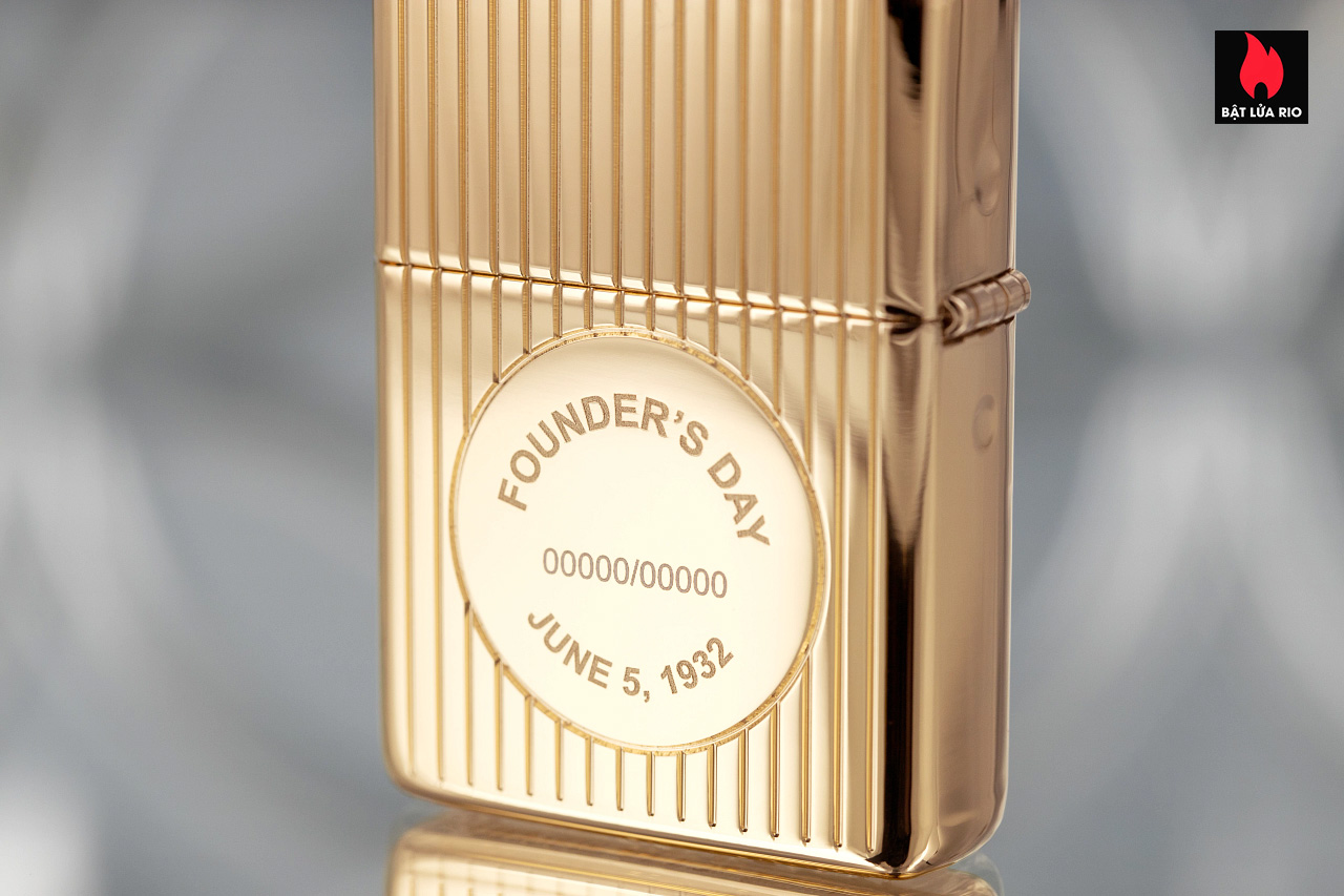 Zippo 49631 - Zippo Founder's Day 2021 Gold Plated Edition Collectible 9