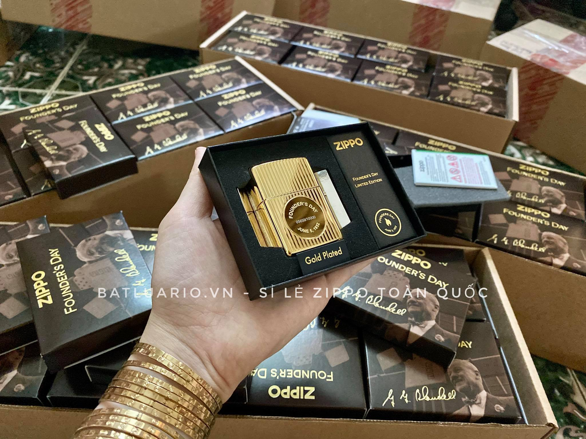 Zippo 49631 - Zippo Founder's Day 2021 Gold Plated Edition Collectible 14