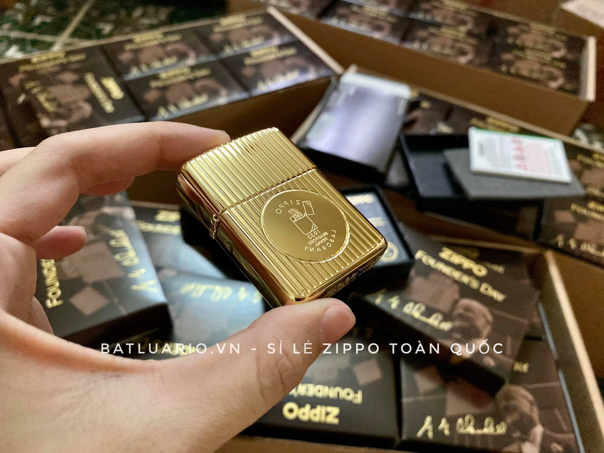 Zippo 49631 - Zippo Founder's Day 2021 Gold Plated Edition Collectible 16