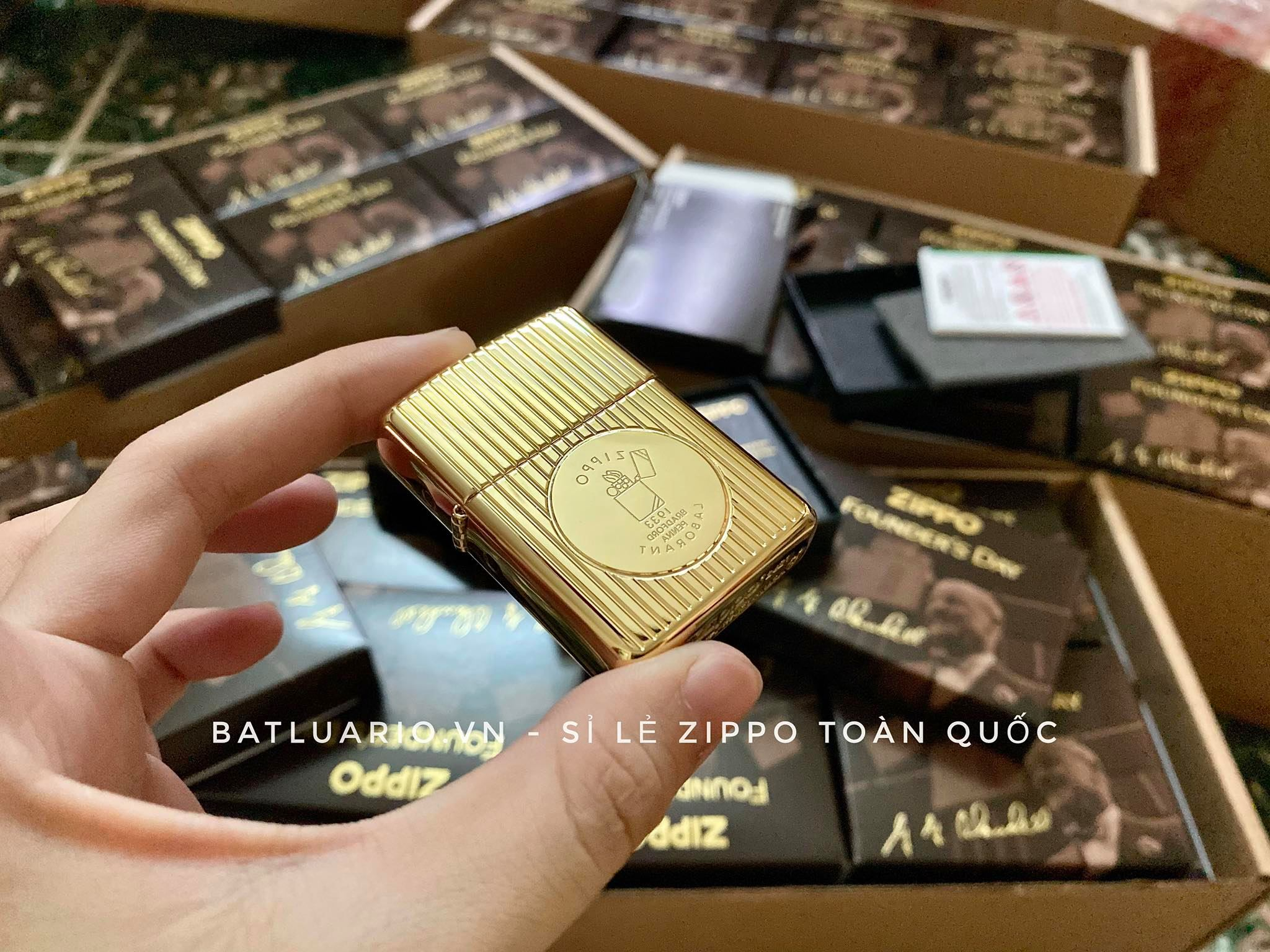 Zippo 49631 - Zippo Founder's Day 2021 Gold Plated Edition Collectible 17