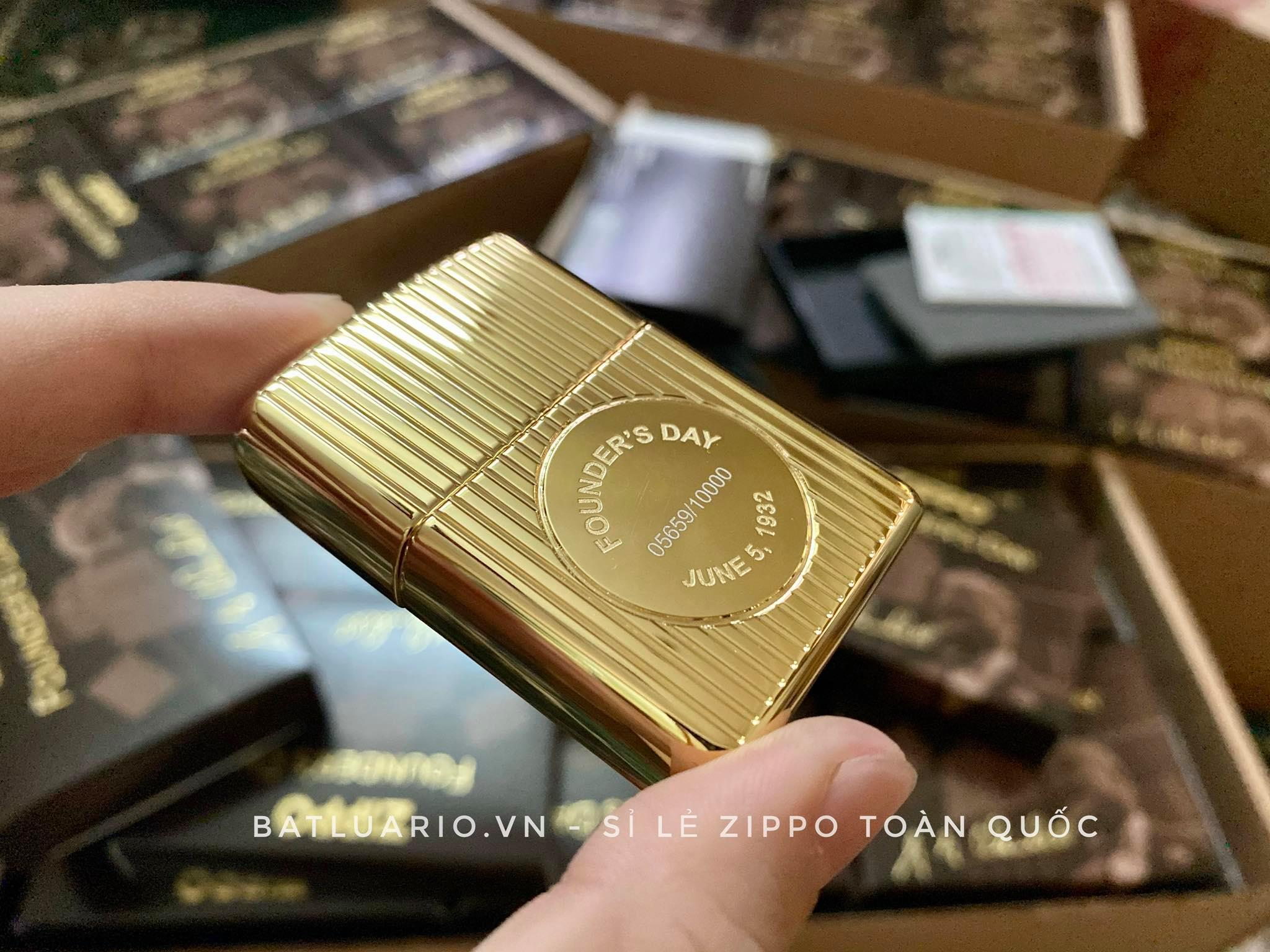 Zippo 49631 - Zippo Founder's Day 2021 Gold Plated Edition Collectible 22
