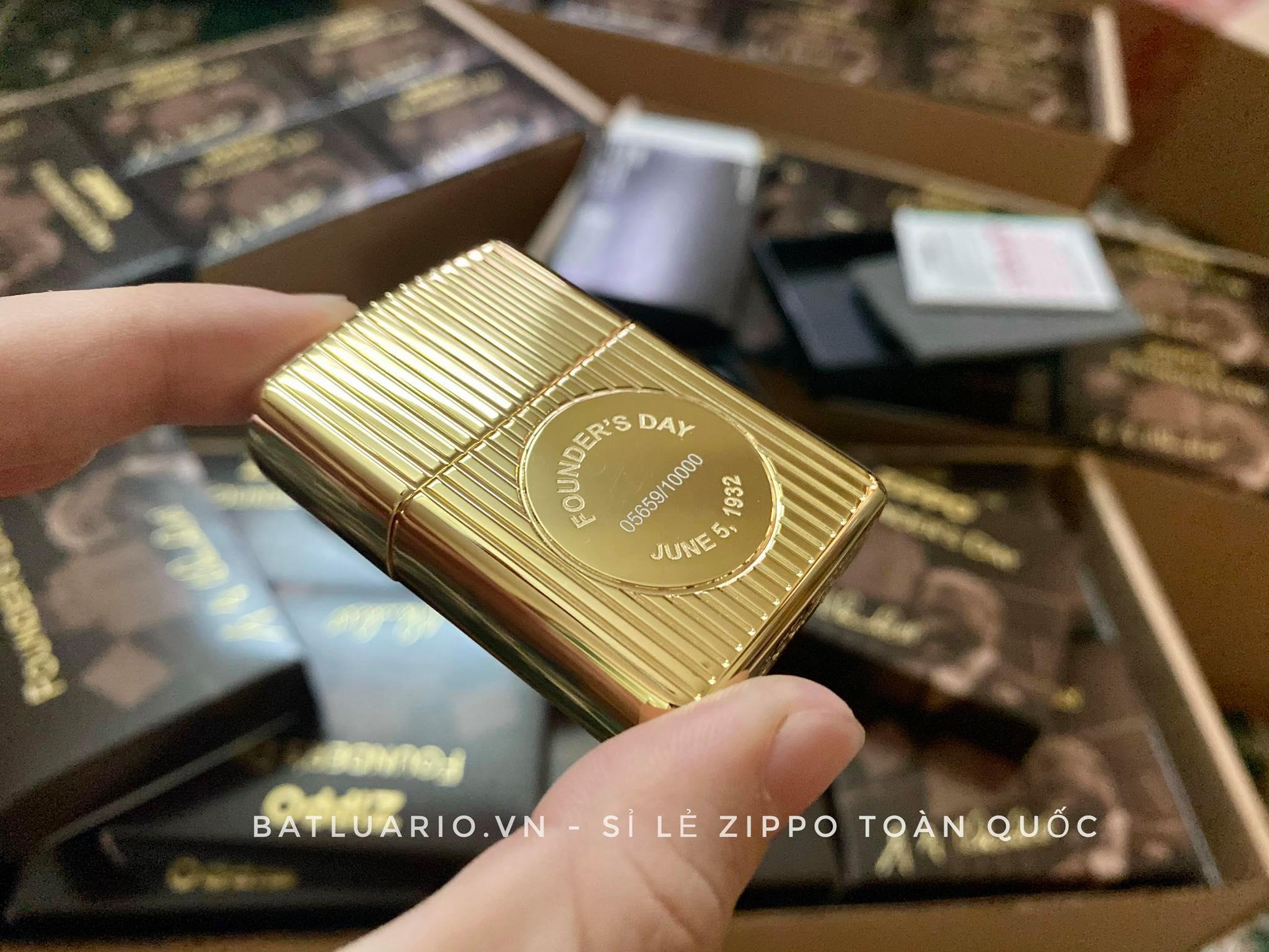 Zippo 49631 - Zippo Founder's Day 2021 Gold Plated Edition Collectible 23