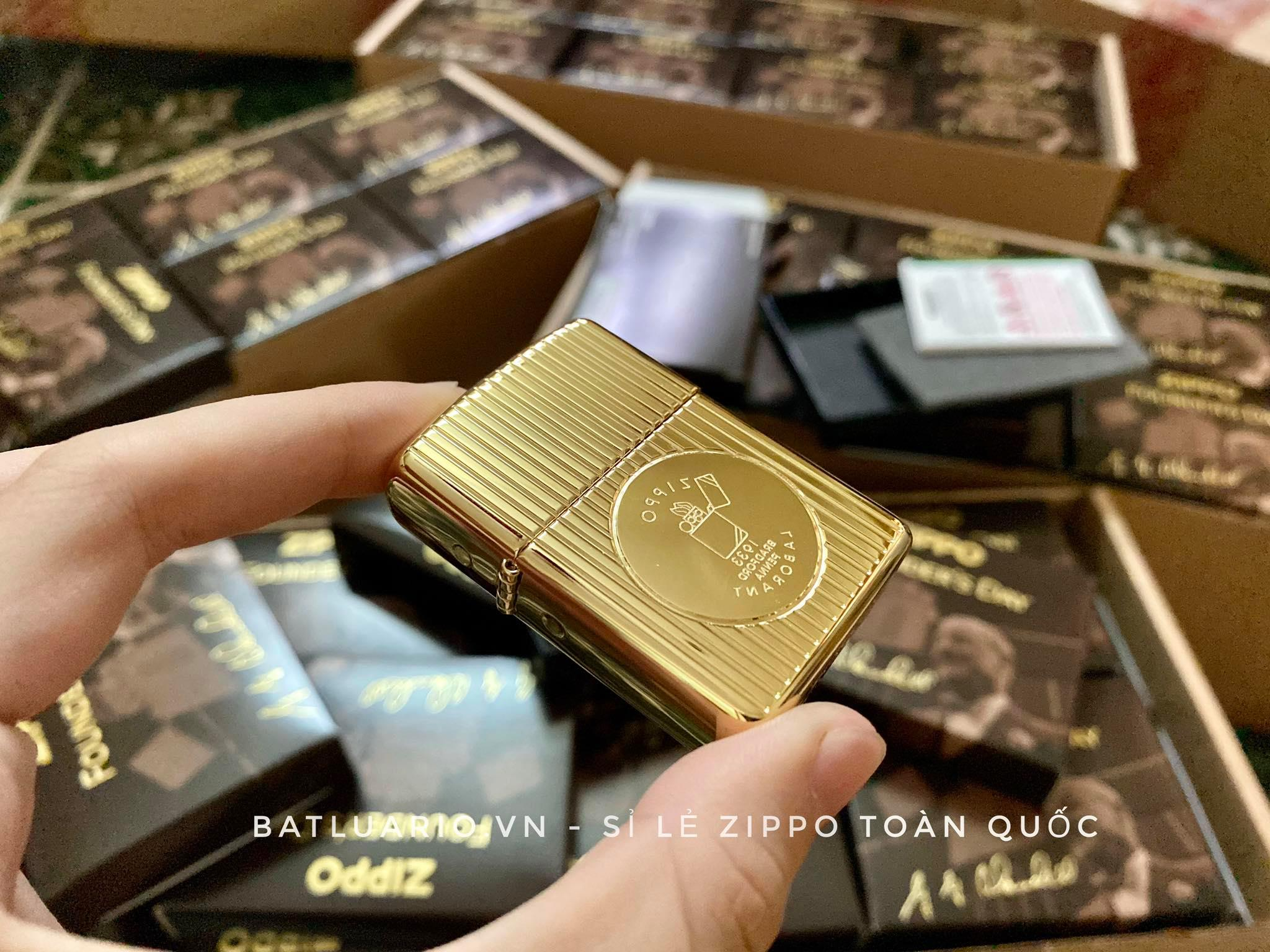 Zippo 49631 - Zippo Founder's Day 2021 Gold Plated Edition Collectible 24