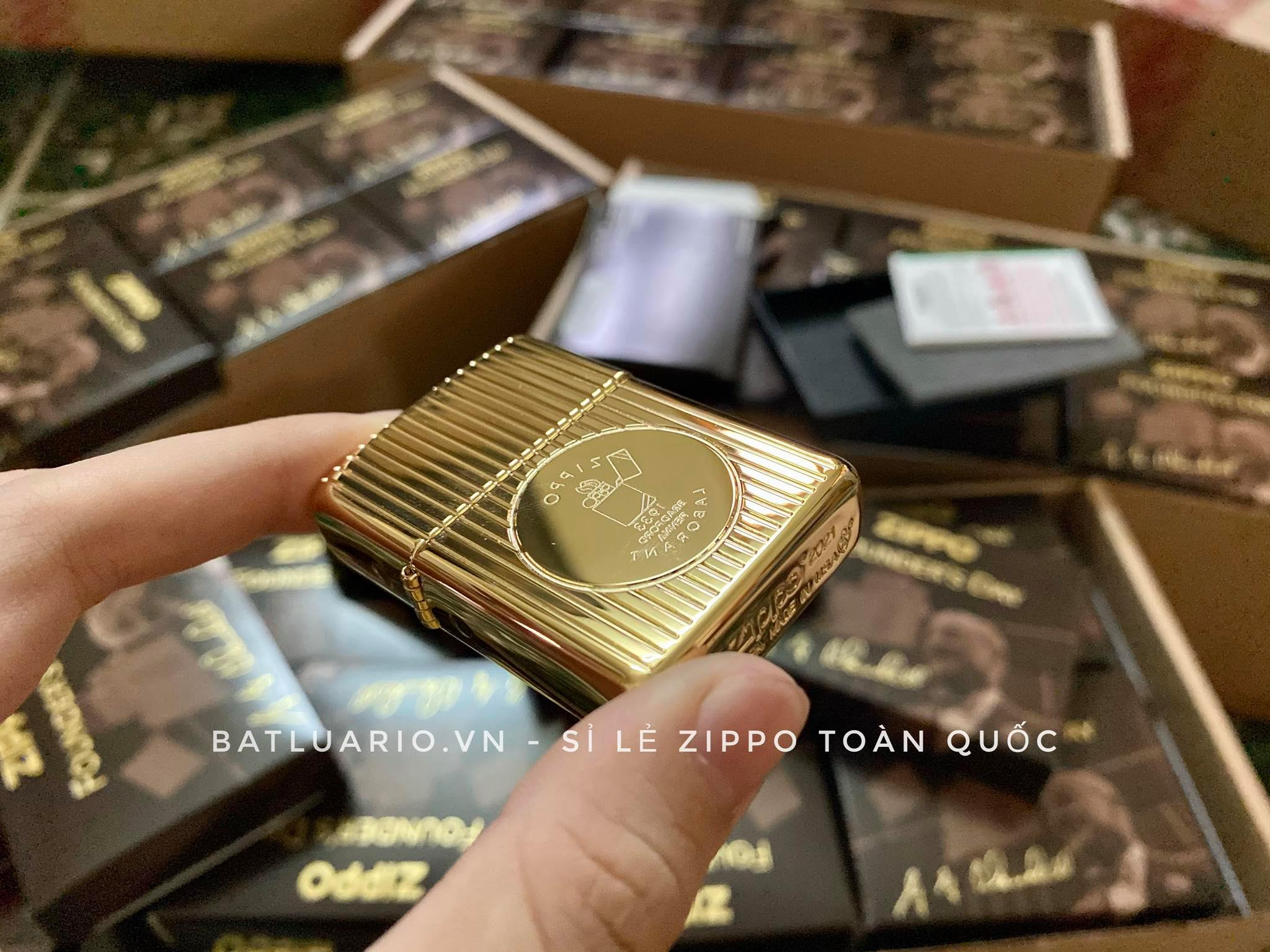 Zippo 49631 - Zippo Founder's Day 2021 Gold Plated Edition Collectible 25
