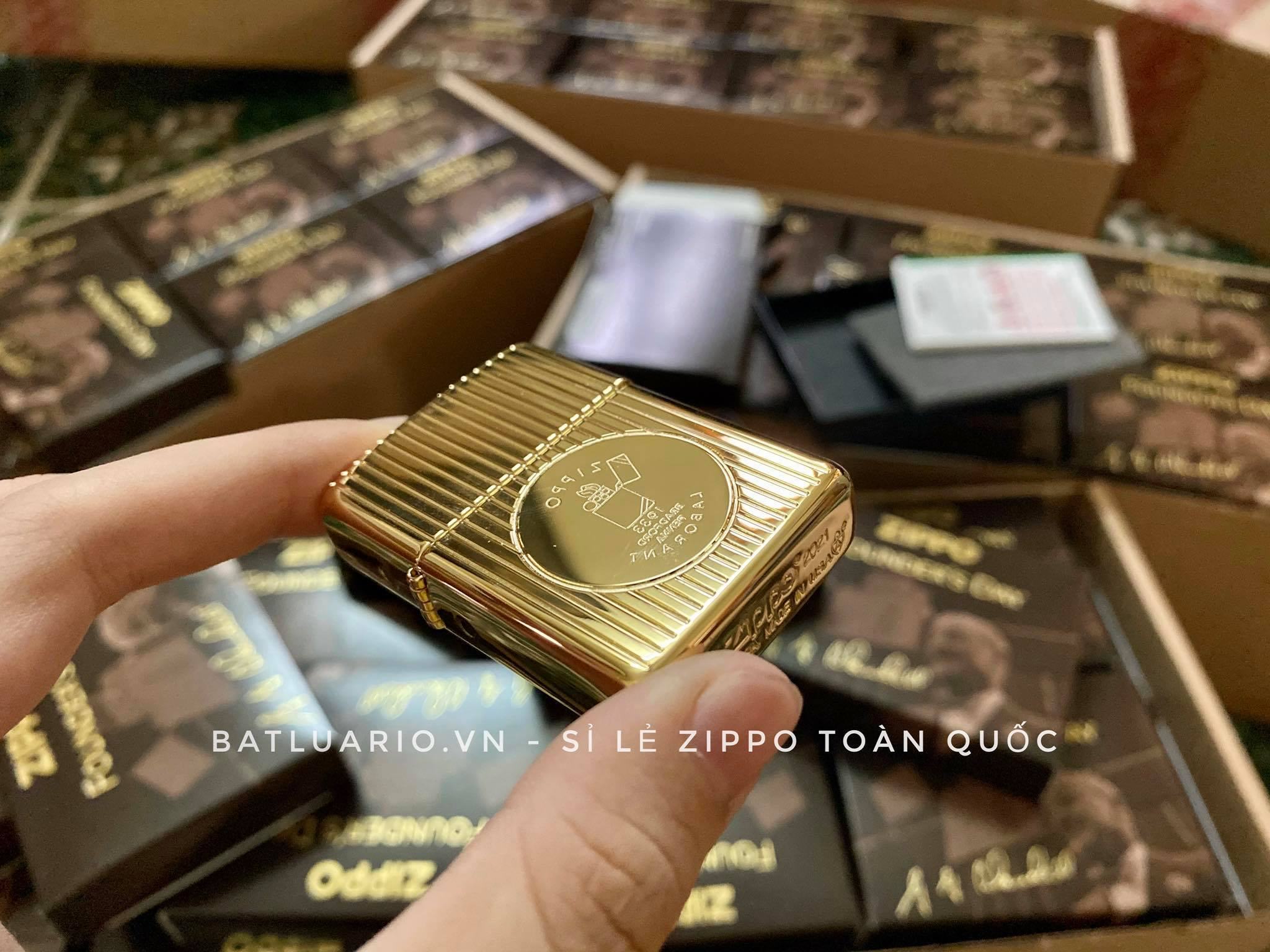 Zippo 49631 - Zippo Founder's Day 2021 Gold Plated Edition Collectible 26