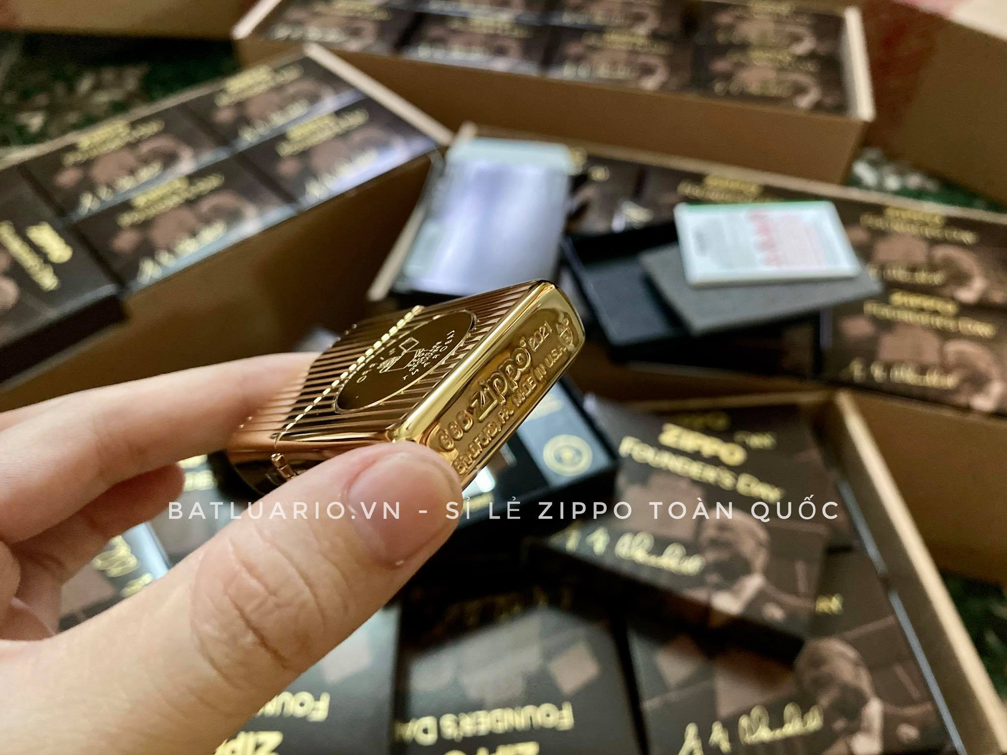 Zippo 49631 - Zippo Founder's Day 2021 Gold Plated Edition Collectible 30