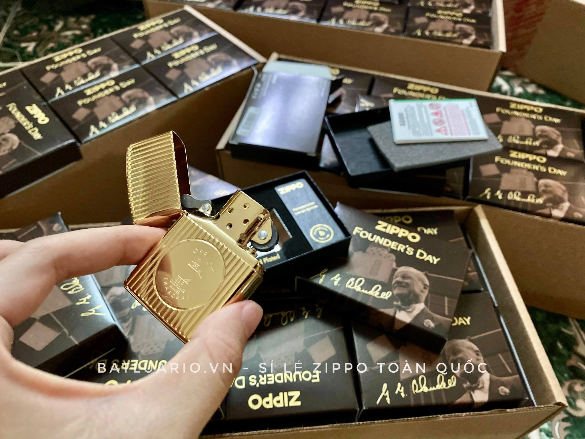 Zippo 49631 - Zippo Founder's Day 2021 Gold Plated Edition Collectible 33